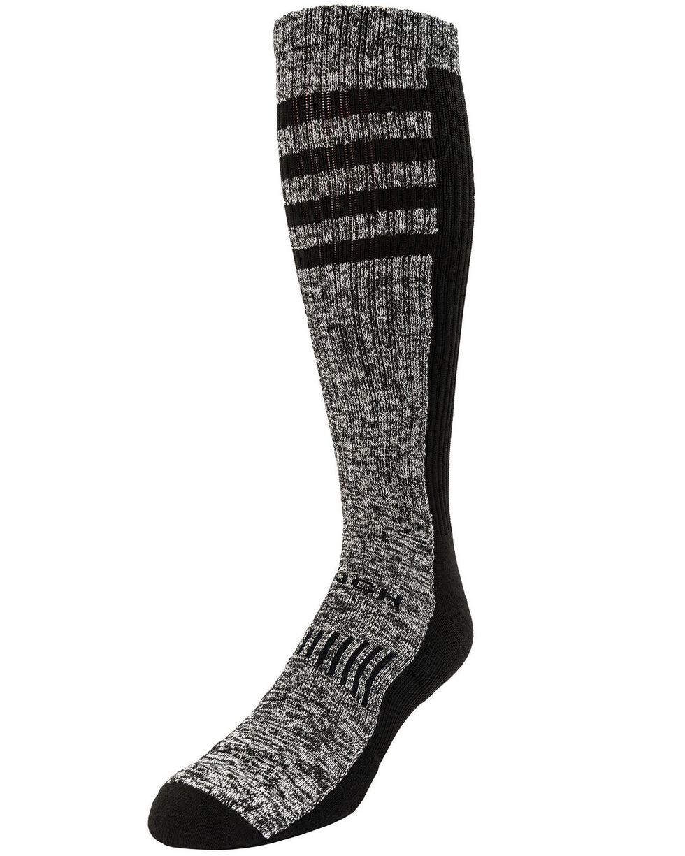 Cinch Women's Distressed Boot Socks, Black, hi-res