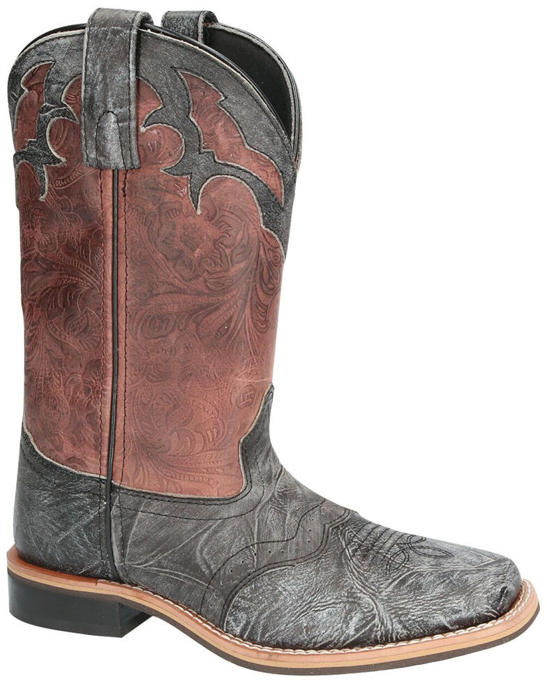 Smoky Mountain Women's Cumberland Western Boots - Square Toe, Black/brown, hi-res