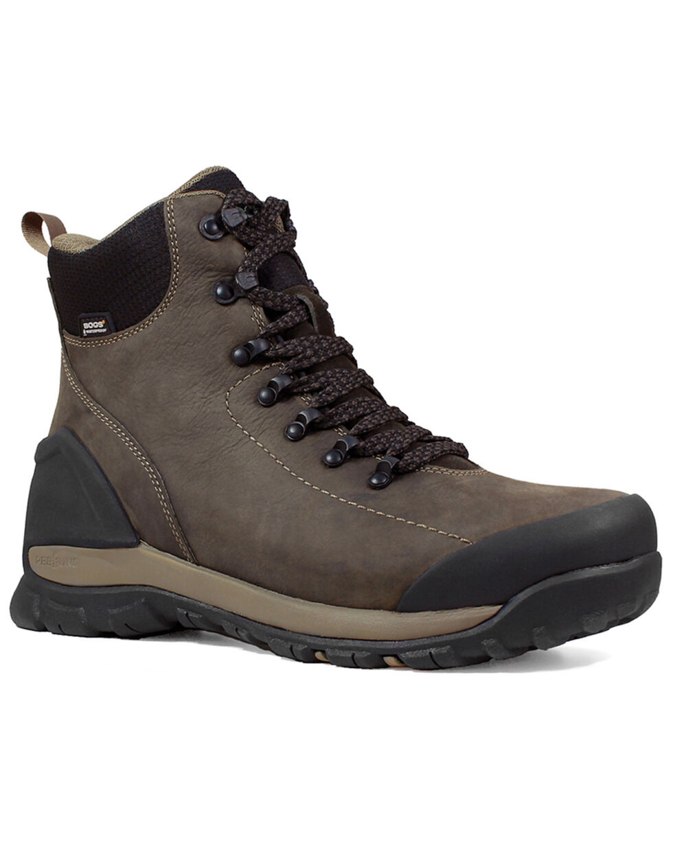 Bogs Men's Foundation Waterproof Work Boots - Composite Toe, Brown, hi-res