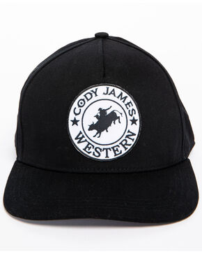 Cody James Men's Western Patch Trucker Hat, Black, hi-res