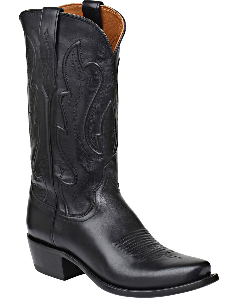 Lucchese Men's Cole Embossed Ranch Hand Western Boots, Black, hi-res