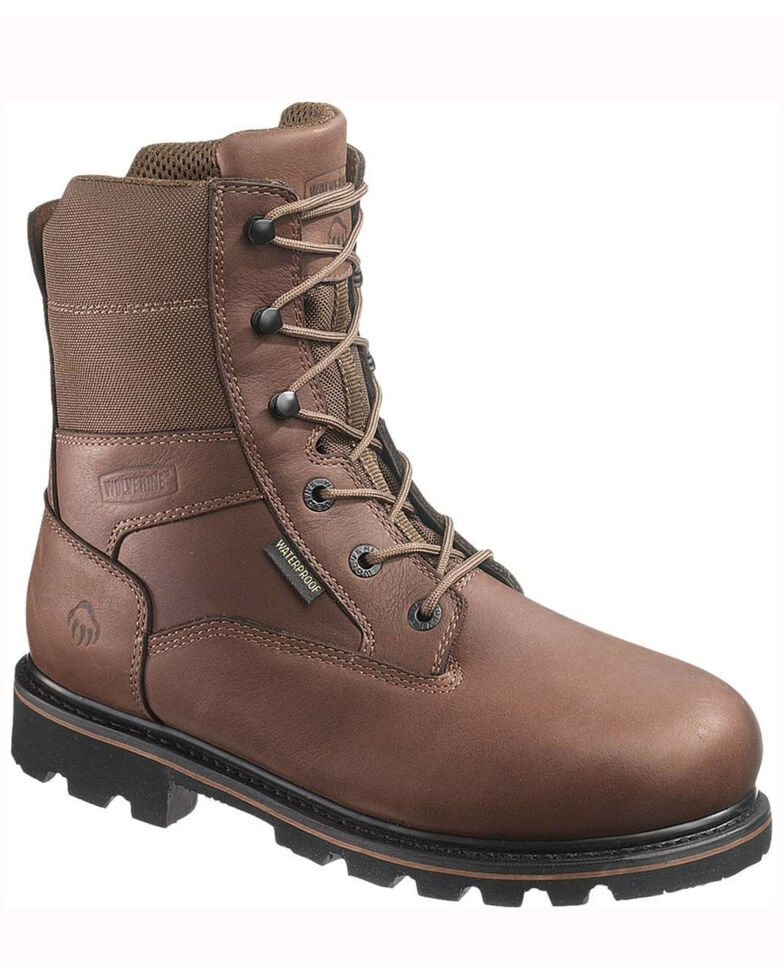 "Wolverine Men's 8"" Novack Waterproof Insulated Work Boots, Brown, hi-res"