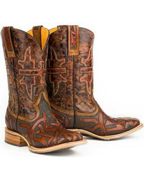 Tin Haul Men's Stag Western Boots, Brown, hi-res