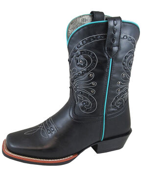 Smoky Mountain Women's Shelby Black Western Boots - Square Toe, Black, hi-res