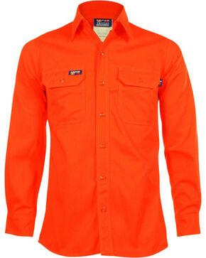 Lapco Men's Long Sleeve Flame Resistant Work Shirt, Orange, hi-res