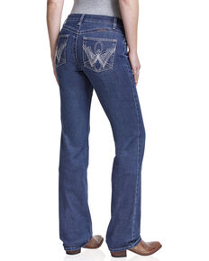 Wrangler Women's Ultimate Riding Q-Baby Jean, Blue, hi-res