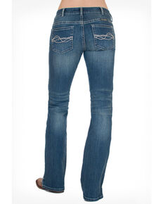 Cowgirl Tuff Women's Inspire Jeans, Medium Blue, hi-res