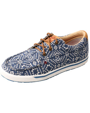 Twisted X Women's Aztec Hooey Loper Shoes - Moc Toe, Multi, hi-res