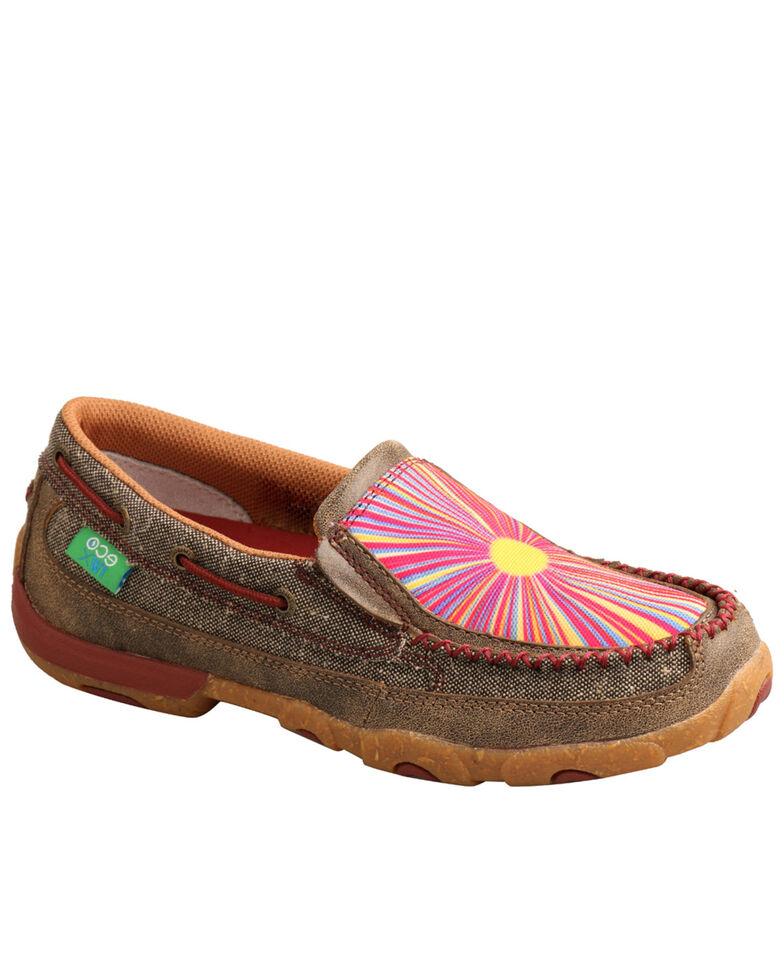 Twisted X Women's Sunburst Eco Slip-On Shoes - Moc Toe, , hi-res
