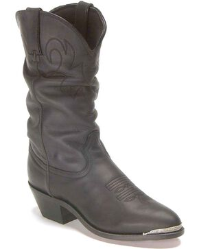 "Durango Women's Slouch 11"" Western Boots, Black, hi-res"