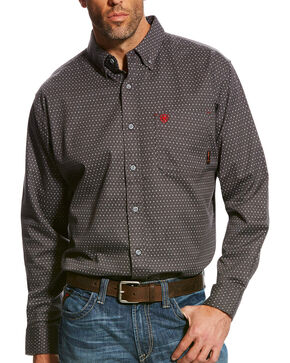 Ariat Men's FR Waco Work Shirt, Grey, hi-res