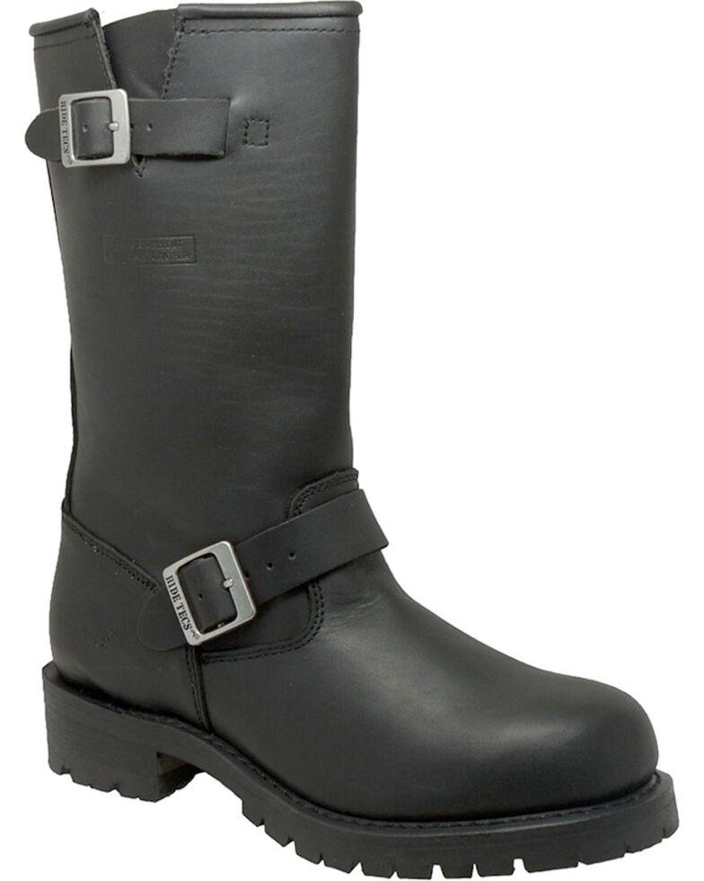 "Ad Tec Men's Heavy Duty 13"" Motorcycle Boots, Black, hi-res"