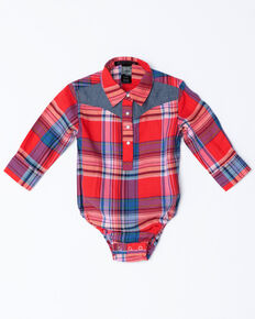 8a4129ebd6bf Shyanne Infant Girls Plaid Core Long Sleeve Onesie