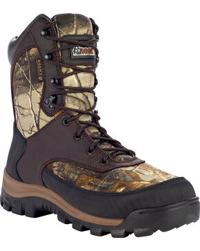 Rocky Men's Camo Waterproof Hiking Boots, Camouflage, hi-res