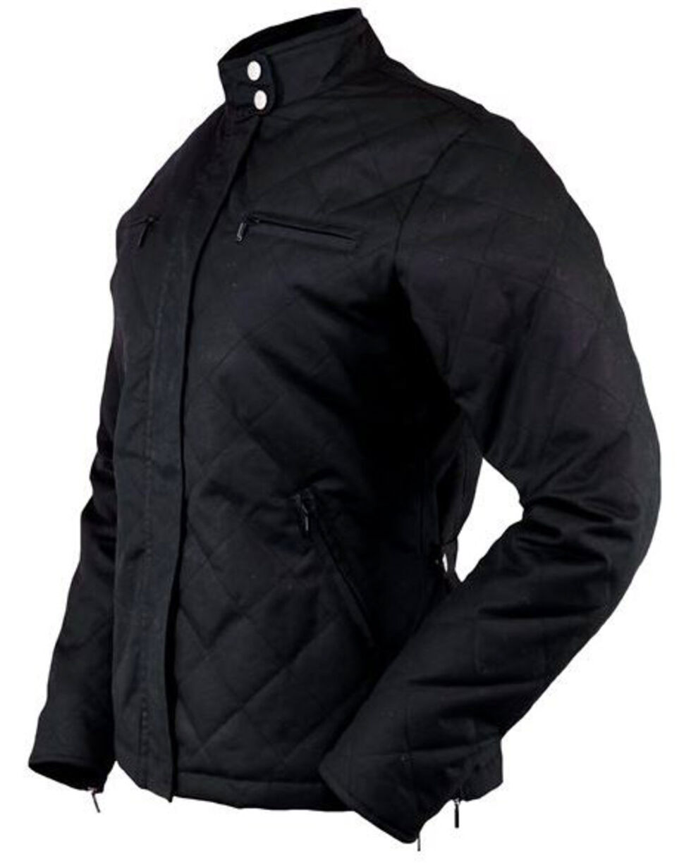 Outback Trading Women's Stormy Oilskin Jacket, Black, hi-res