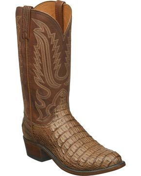 Lucchese Men's Handmade Walter Hornback Caiman Western Boots - Medium Toe, Tan, hi-res