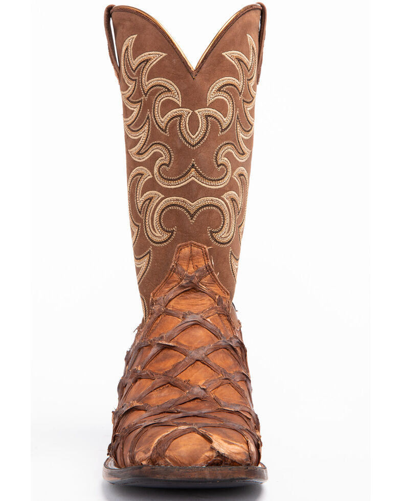 Shyanne Women's Exotic Pirarucu Western Boots - Square Toe, Brown, hi-res