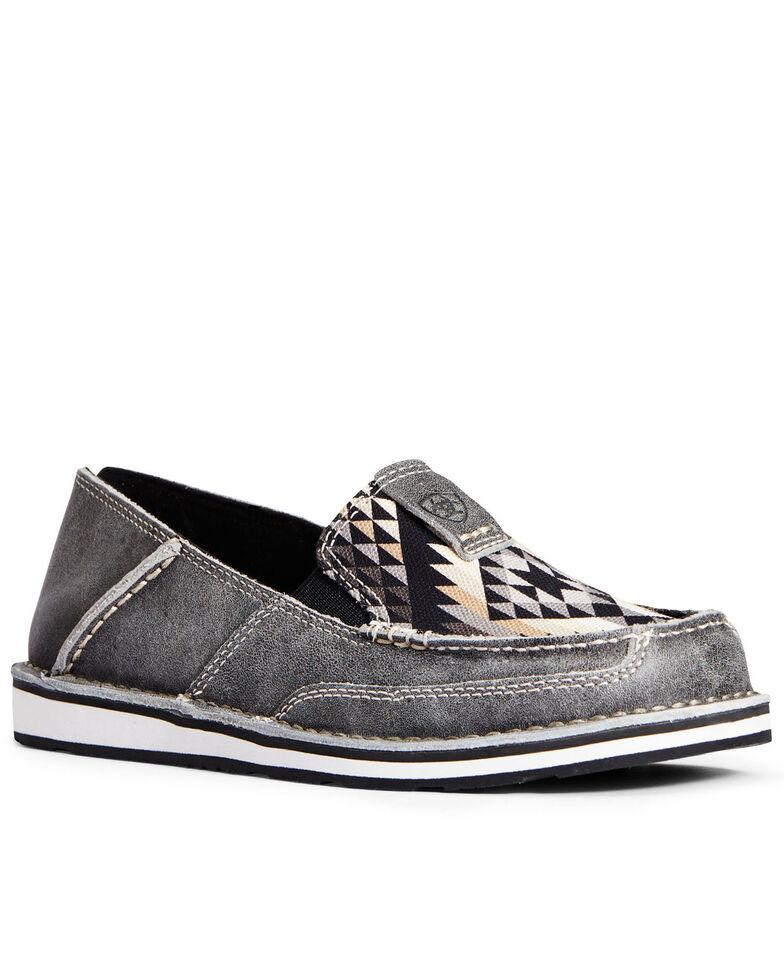 Ariat Women's Titanium Aztec Cruiser Shoes - Moc Toe, Grey, hi-res