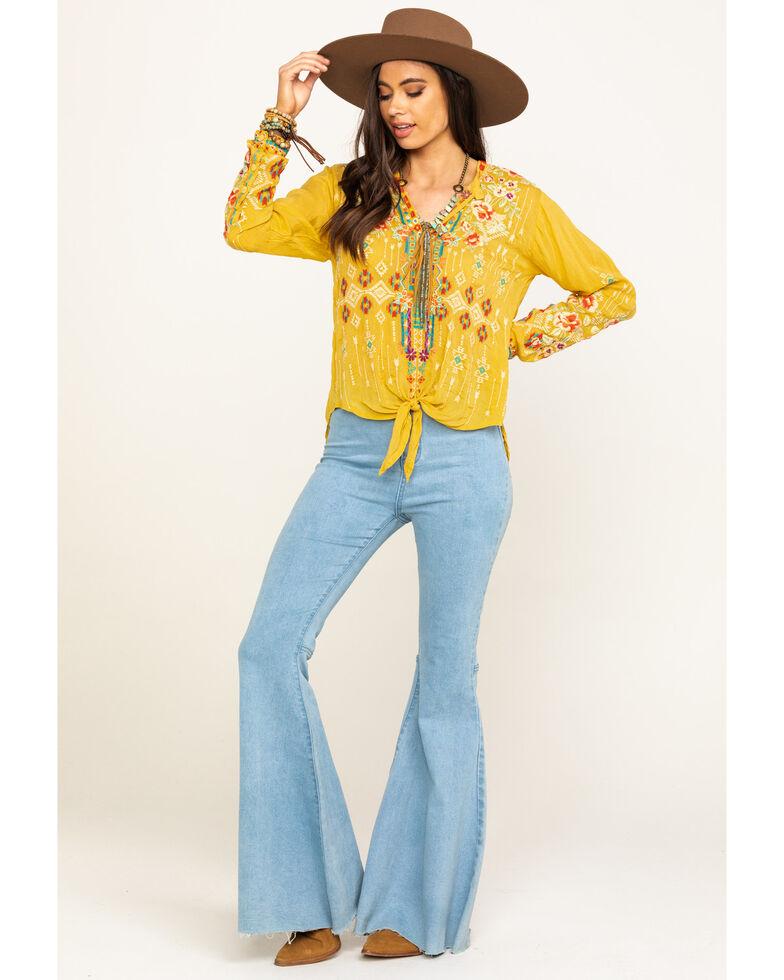 Johnny Was Women's Bamboo Donya Top, Dark Yellow, hi-res