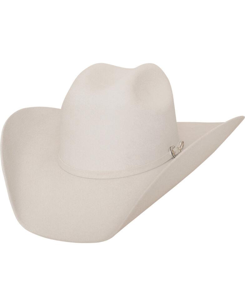 Bullhide Men's Big Boss 8X Beaver Fur Blend Cowboy Hat , Silver Belly, hi-res