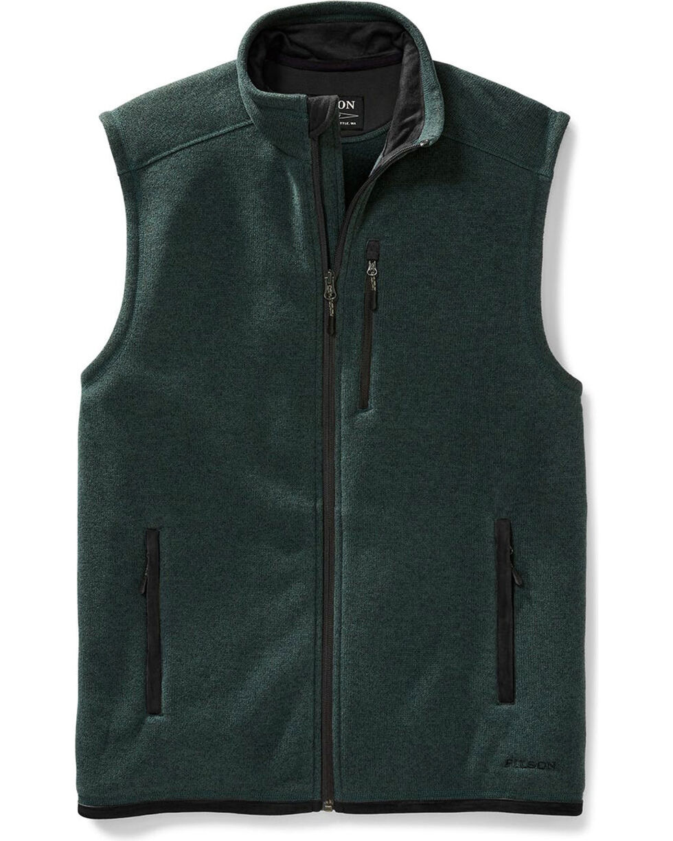 Filson Men's Spruce Ridgeway Fleece Vest , Forest Green, hi-res