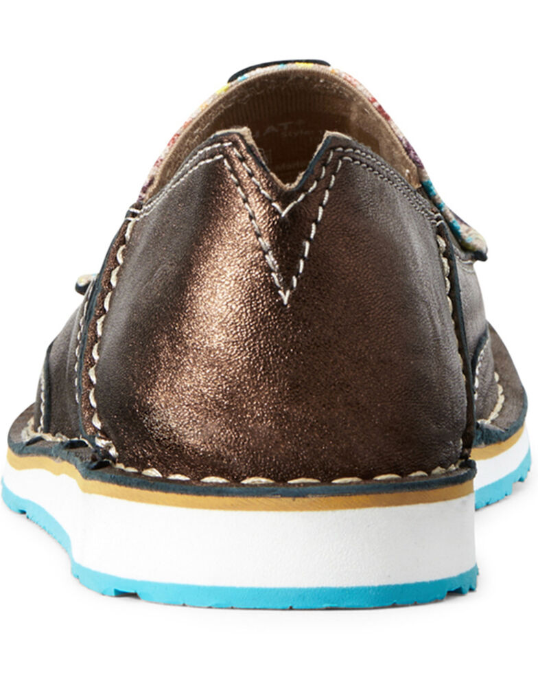 Ariat Women's Rainbow Aztec Cruiser Shoes - Moc Toe, Brown, hi-res