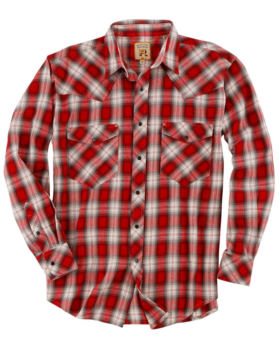 Resistol Men's Freedom Plaid Long Sleeve Western Shirt , Red, hi-res
