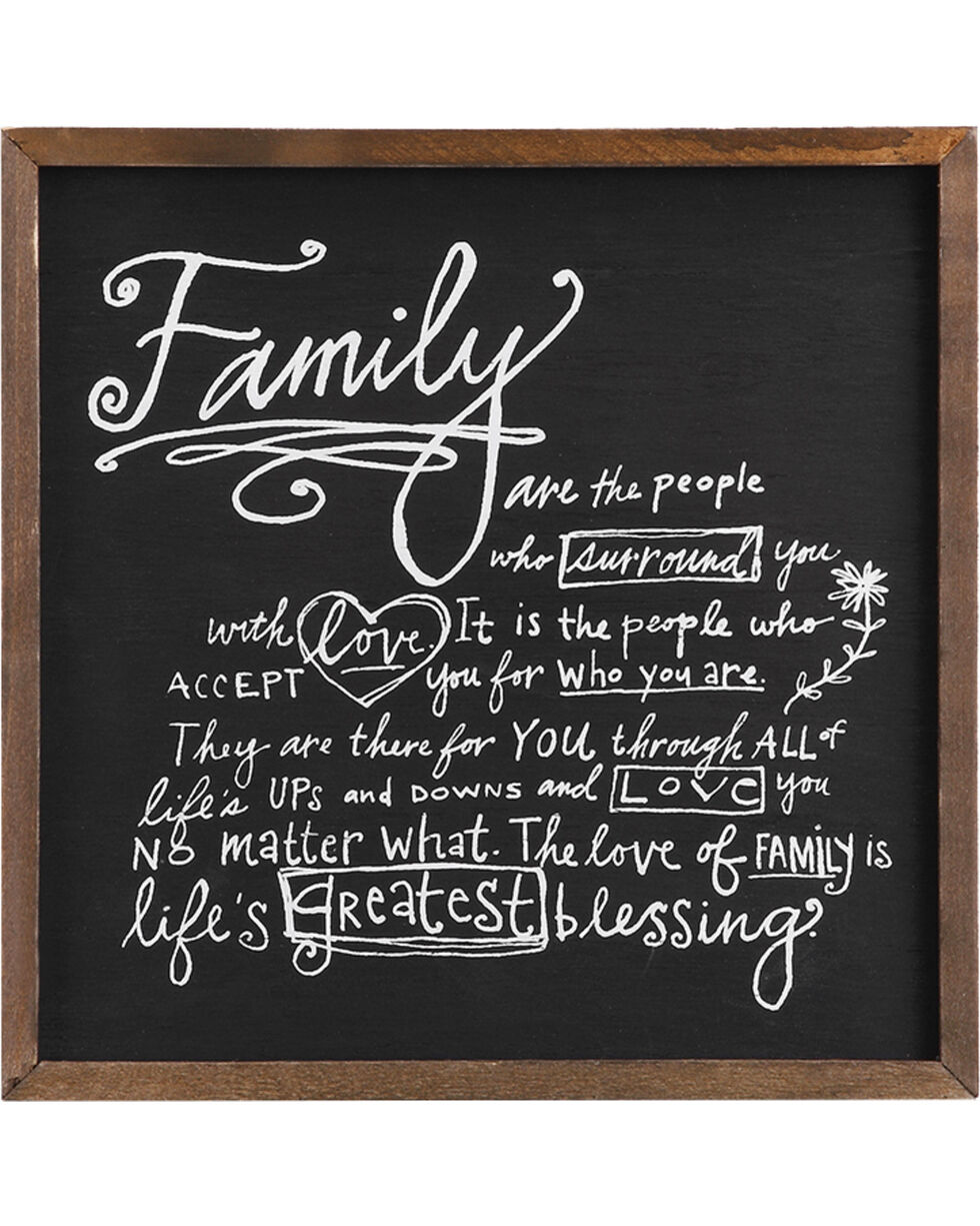 Demdaco Poetic Threads Family Plaque , Black, hi-res