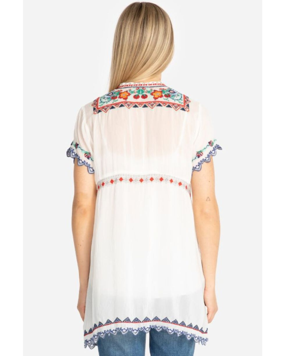 Johnny Was Women's Liesse Tunic, White, hi-res