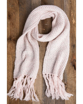 Idyllwind Women's Cozy Town Fringe Scarf, Pink, hi-res