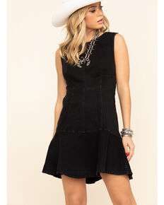 Free People Women's Alex Mini Dress , Black, hi-res