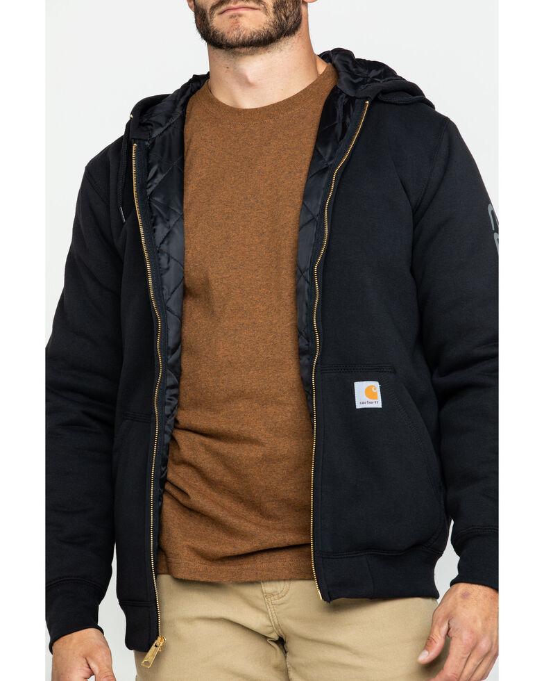 Carhartt Men's Midweight Hooded Zip-Front Work Sweatshirt , Black, hi-res