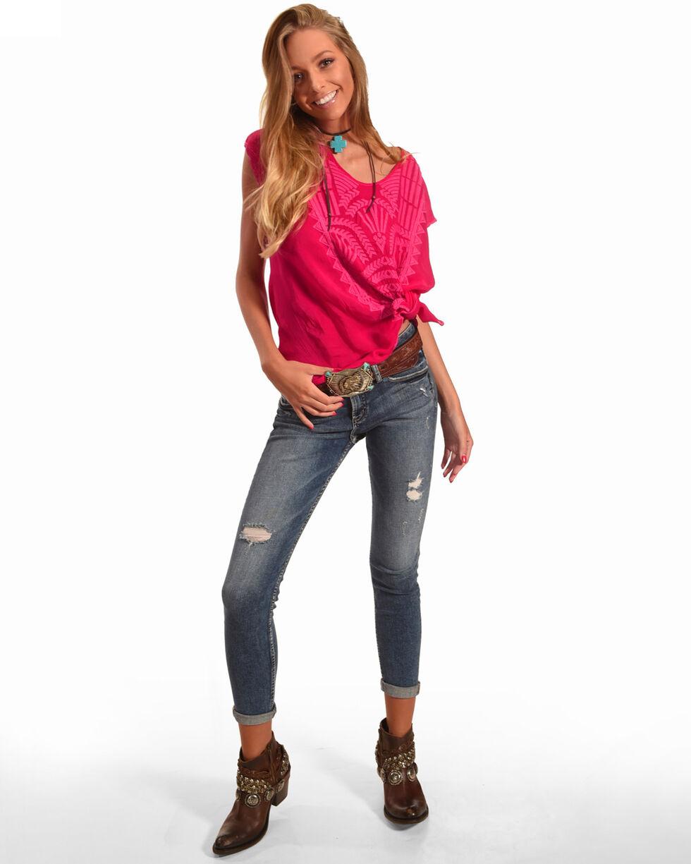 Johnny Was Women's Lamonay Short Sleeve Top, Bright Pink, hi-res