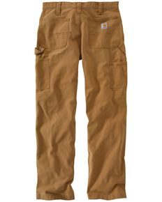 Carhartt Men's Weathered Duck Dungaree Pants, Brown, hi-res