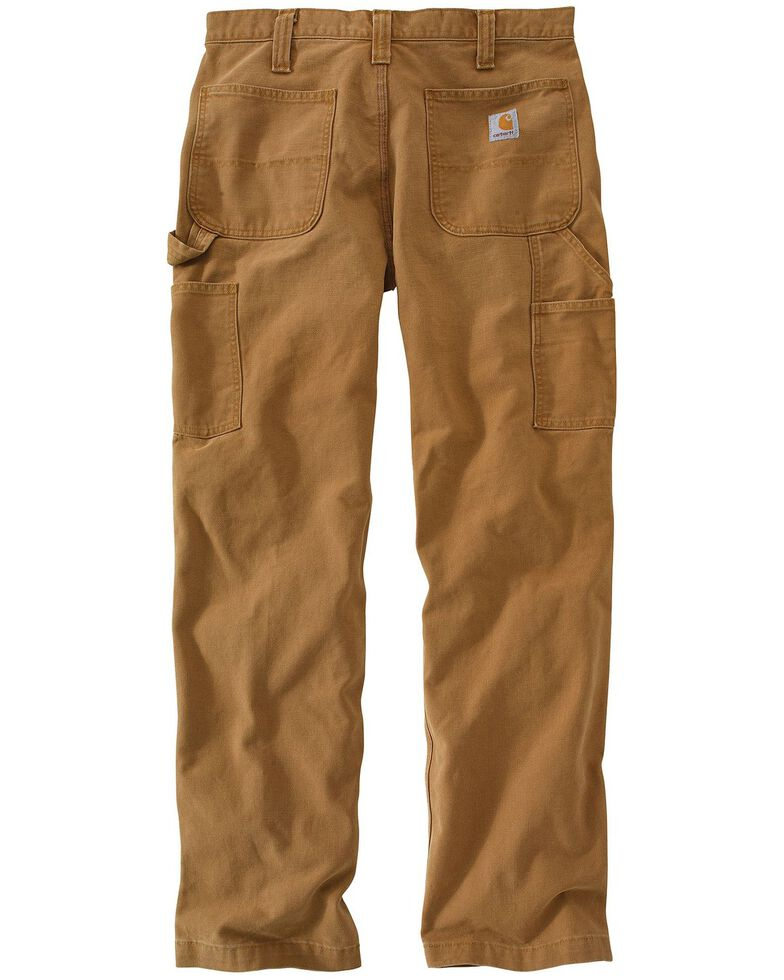 Carhartt Men's Weathered Duck Dungaree Pants, Brown, hi-res