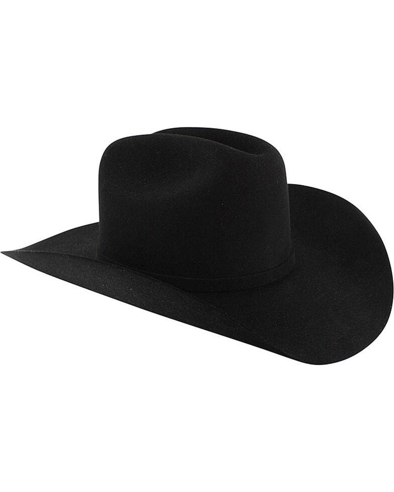Stetson Men's Apache 4X Buffalo Felt Hat, Black, hi-res