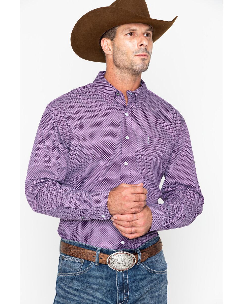 Cinch Men's Purple Modern Fit Printed Shirt , Purple, hi-res