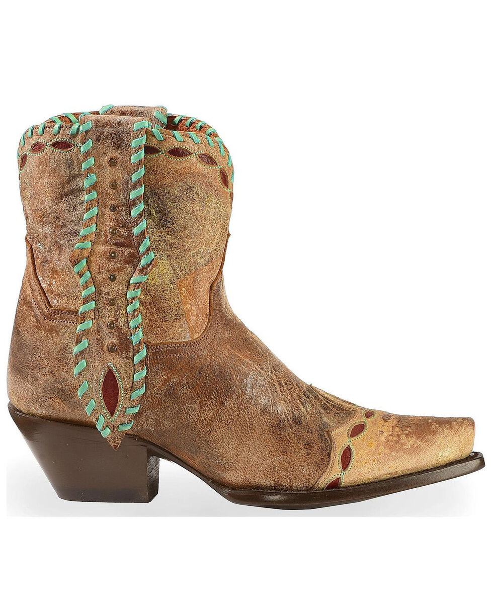 Dan Post Women's Livie Western Booties, Tan, hi-res