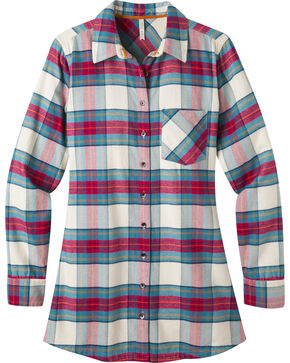 Mountain Khakis Women's Penny Plaid Tunic Shirt, Cream, hi-res