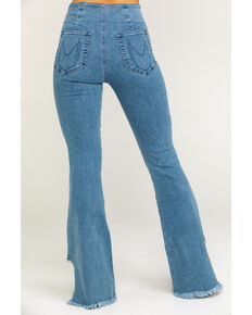 Show Me Your Mumu Women's Austin Agua Fria Pull On Flare Jeans, Blue, hi-res