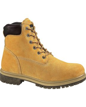Wolverine's Men's Waterproof Insulated Work Boots, Gold, hi-res