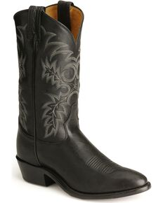 Tony Lama Men's Stallion Americana Western Boots, Black, hi-res