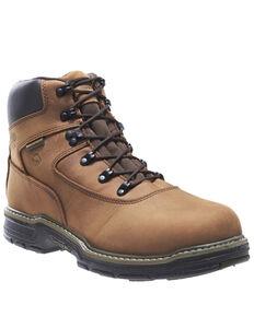 "Wolverine Men's Marauder 6"" Steel Toe Work Boots, Brown, hi-res"