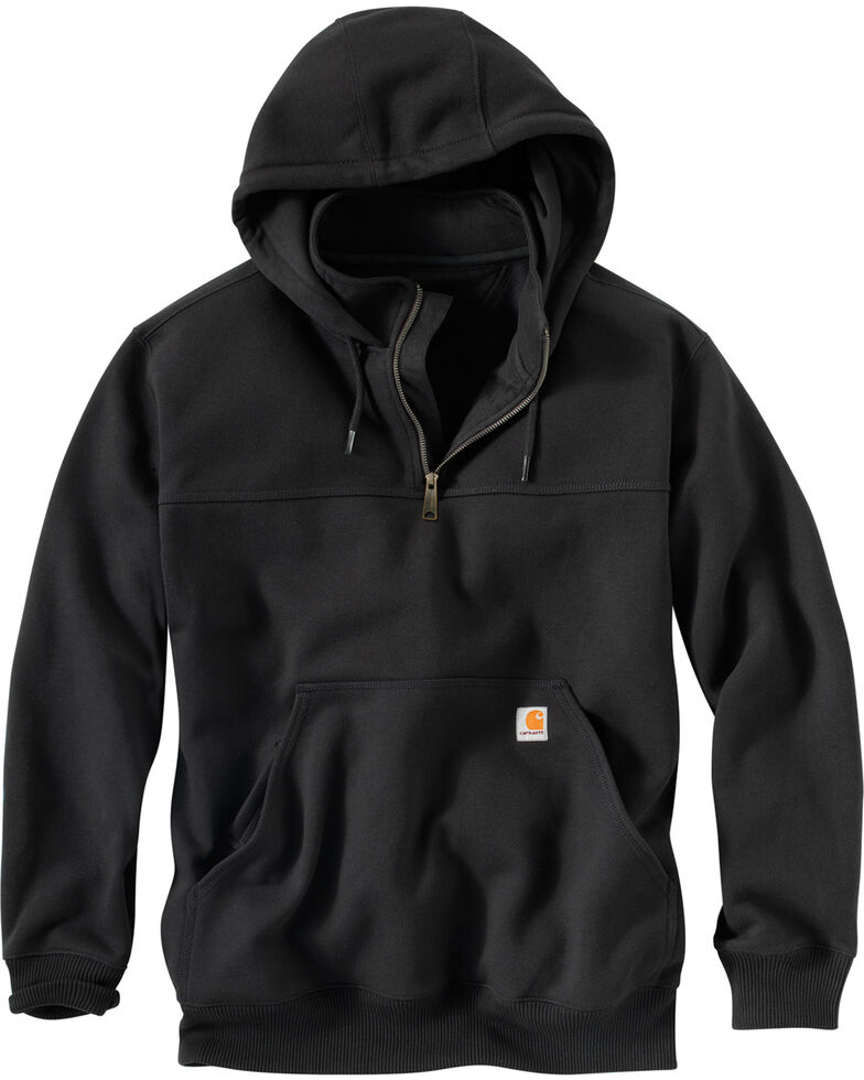 Carhartt Rain Defender Paxton Hooded Zip Mock Sweatshirt, Black, hi-res