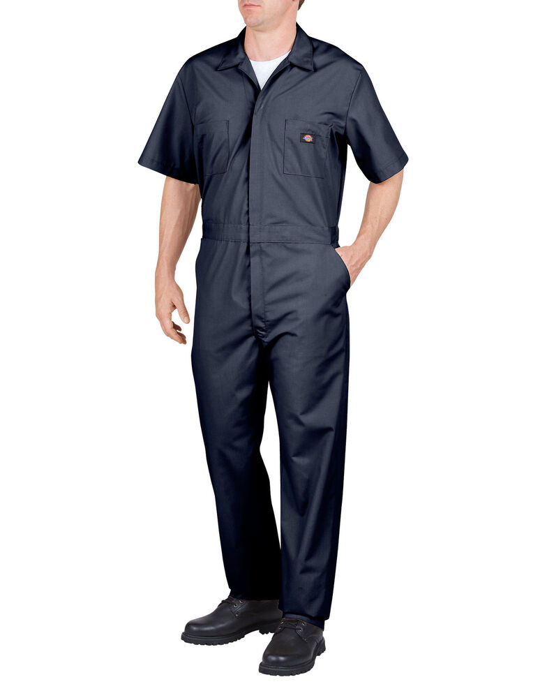 Dickies Short Sleeve Work Coveralls, Navy, hi-res