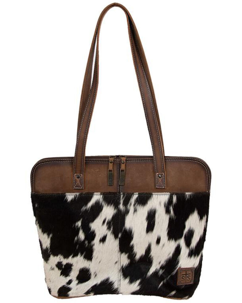 STS Ranchware Women's Cowhide Laptop Bag, Black, hi-res