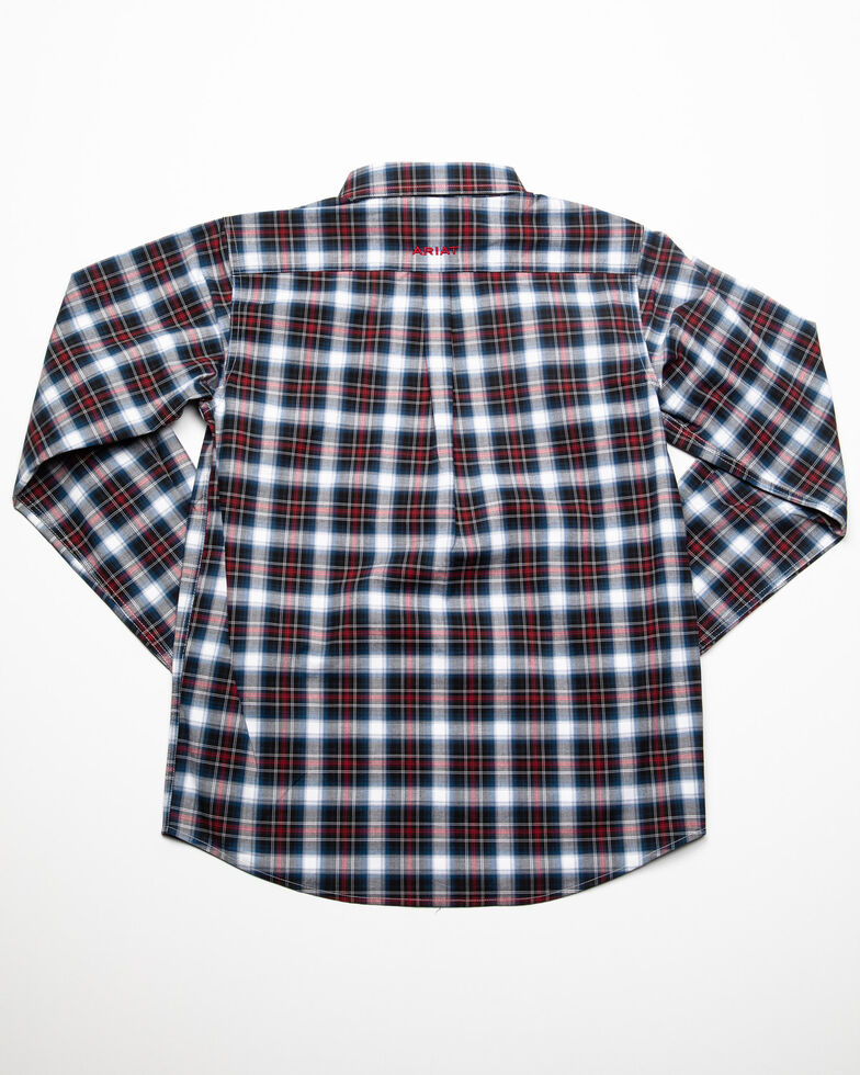 Ariat Boys' Dannon Stretch Plaid Long Sleeve Western Shirt , Multi, hi-res