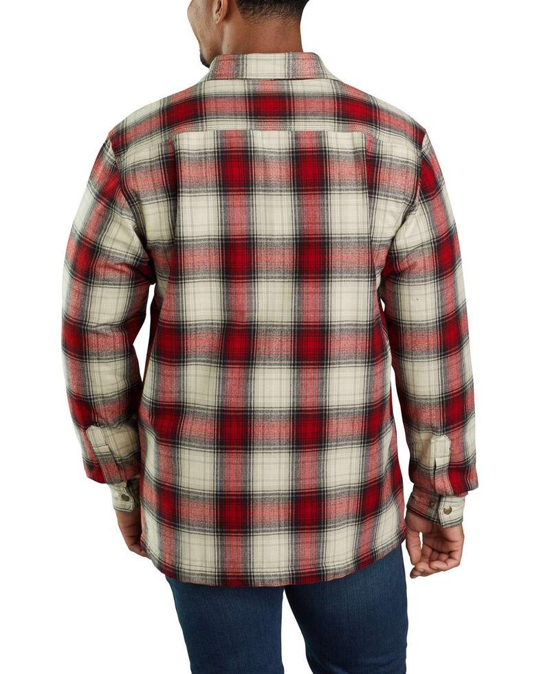 Carhartt Men's Hubbard Flannel Long Sleeve Work Shirt Jacket - Tall , Dark Red, hi-res