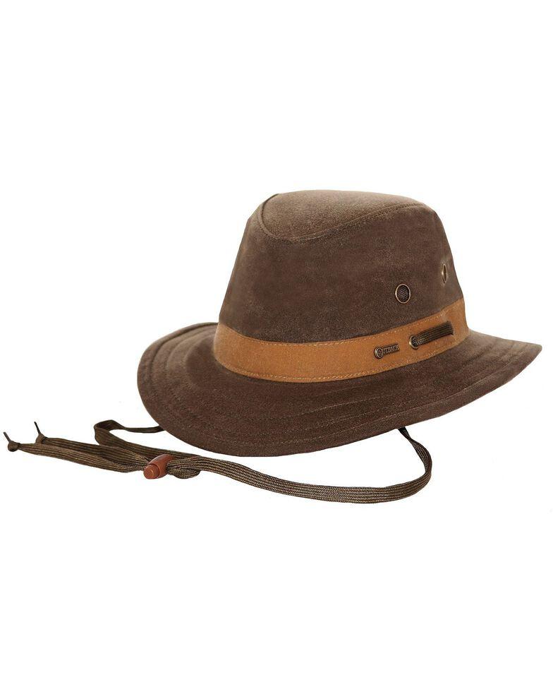 Outback Unisex Oilskin Willis Hat, Sage, hi-res