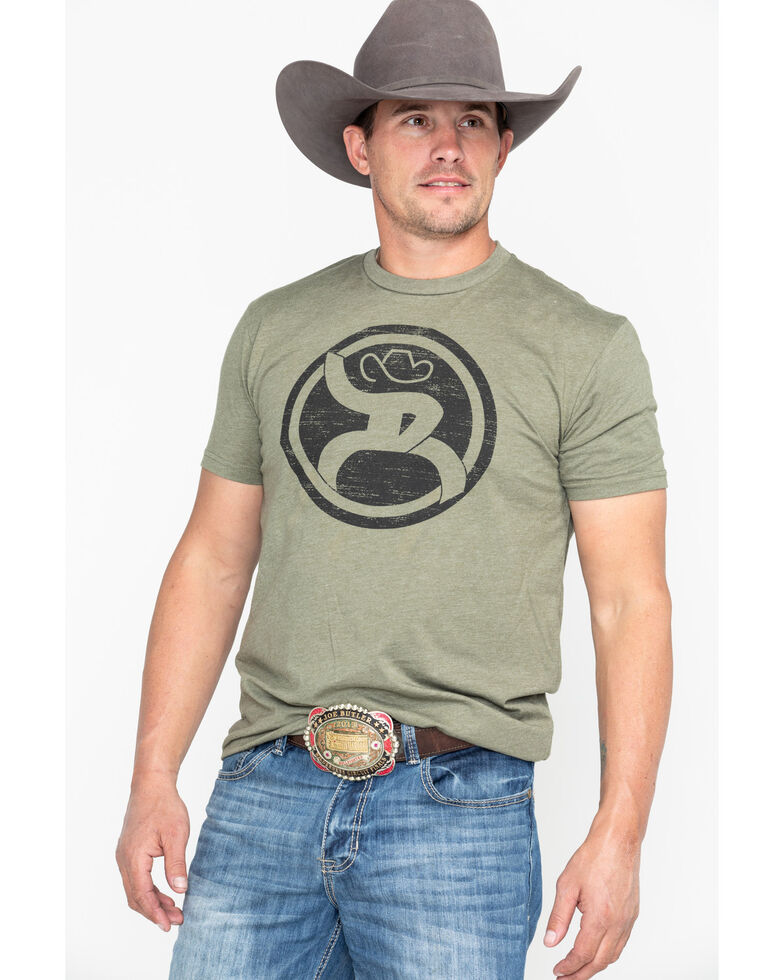 HOOey Men's Olive Roughy 2.0 Crew Neck T-Shirt , Olive, hi-res